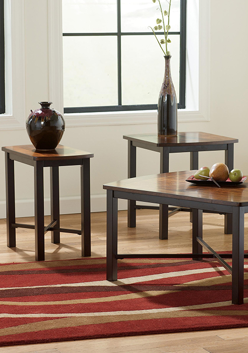 three piece accent table group