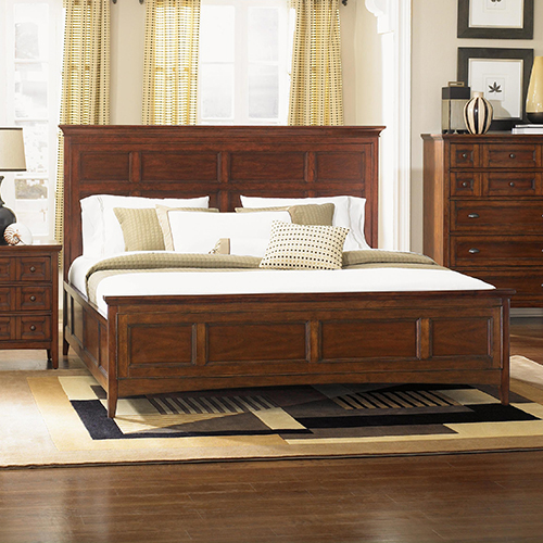 Beau Wood Panel Bed