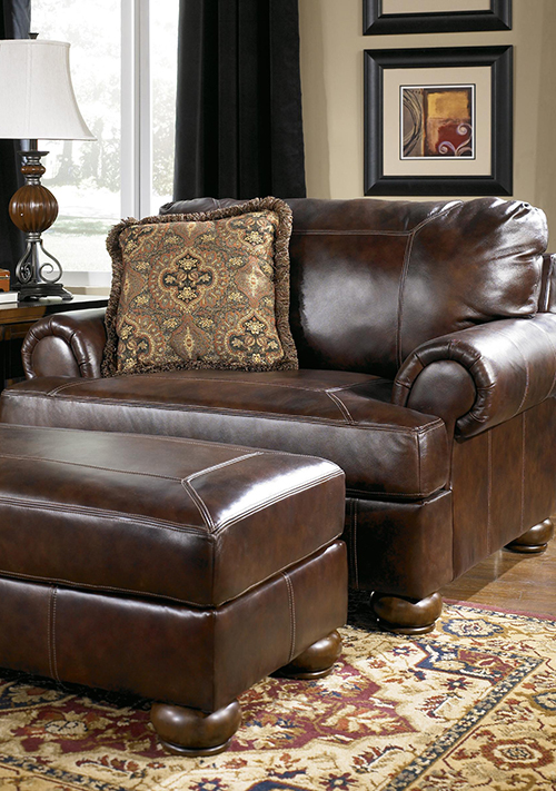 Leather Chair And Ottoman Part 90
