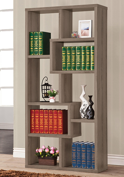 geometric bookshelf